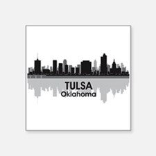 "Tulsa Skyline Square Sticker 3"" x 3"""
