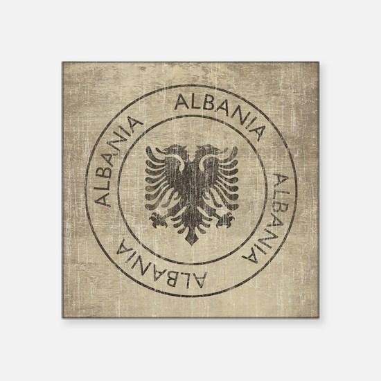 "Vintage Albania Square Sticker 3"" x 3"""