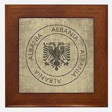 Vintage Albania Framed Tile
