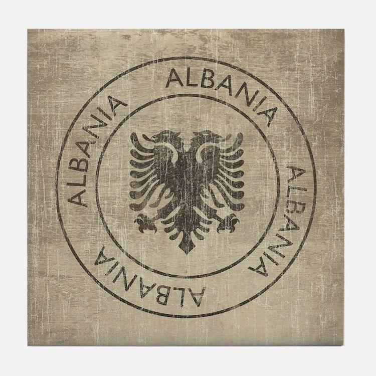 Vintage Albania Tile Coaster