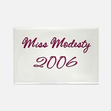 Miss Modesty Rectangle Magnet