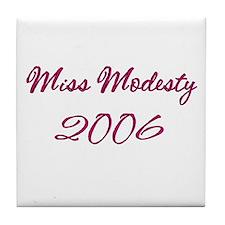 Miss Modesty Tile Coaster