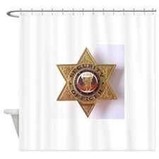 Security7StarBadge.jpg Shower Curtain