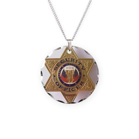 Security7StarBadge.jpg Necklace Circle Charm