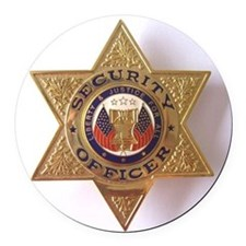Security7StarBadge.jpg Round Car Magnet