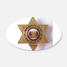 Security7StarBadge.jpg Oval Car Magnet