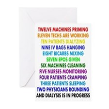 DIALYSIS 12 DAYS OF CHRISTMAS.PNG Greeting Cards (