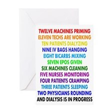 DIALYSIS 12 DAYS OF CHRISTMAS.PNG Greeting Card