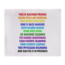 DIALYSIS 12 DAYS OF CHRISTMAS.PNG Throw Blanket