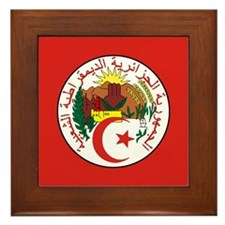 Algeria Coat Of Arms Framed Tile