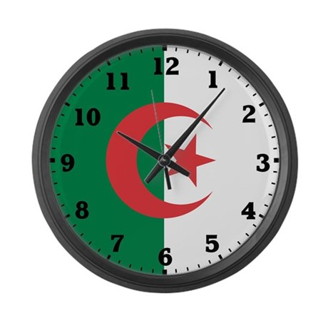 Algeria Flag Large Wall Clock