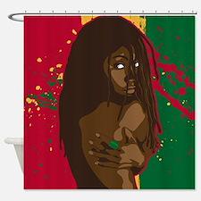 Rasta Girl Shower Curtain