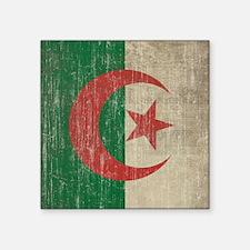 "Vintage Algeria Flag Square Sticker 3"" x 3"""