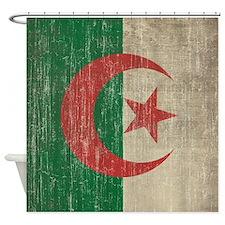 Vintage Algeria Flag Shower Curtain