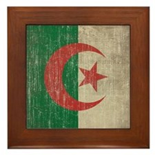 Vintage Algeria Flag Framed Tile