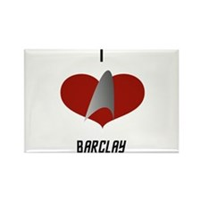 I Love Barclay Rectangle Magnet