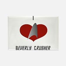 I Love Beverly Crusher Rectangle Magnet