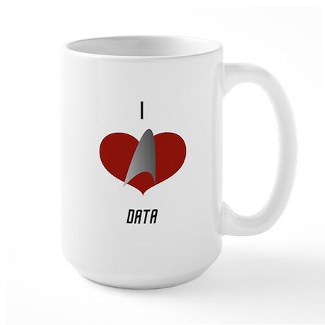I Love Data Large Mug