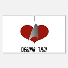I Love Deanna Troi Sticker (Rectangle)