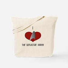 I Love the Deflector Array Tote Bag