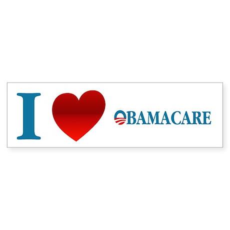 I Love Obamacare Sticker (Bumper)