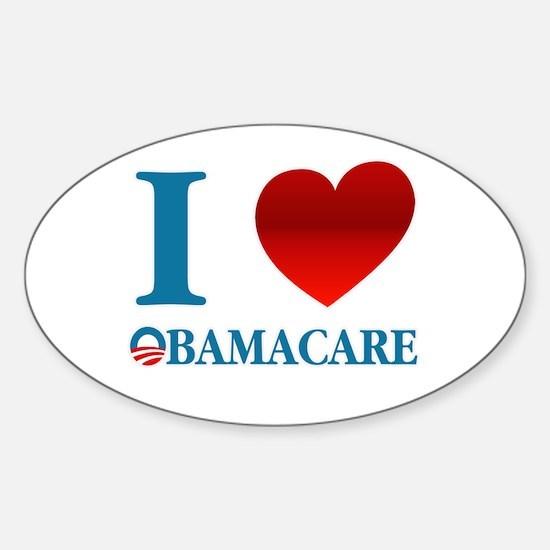 I Love Obamacare Sticker (Oval)