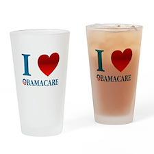 I Love Obamacare Drinking Glass