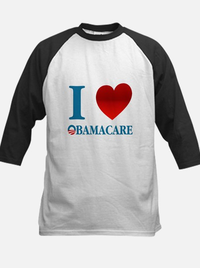 I Love Obamacare Kids Baseball Jersey