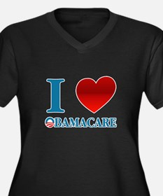 I Love Obamacare Women's Plus Size V-Neck Dark T-S