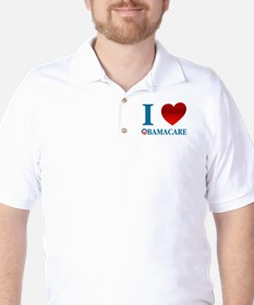 I Love Obamacare Golf Shirt