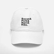 Bacon & Pork & Ham & Ribs Baseball Baseball Cap