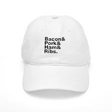 Bacon & Pork & Ham & Ribs Baseball Cap