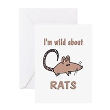 Wild About Rats Greeting Card