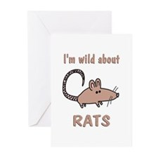 Wild About Rats Greeting Cards (Pk of 20)