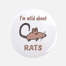 """Wild About Rats 3.5"""" Button (100 pack)"""