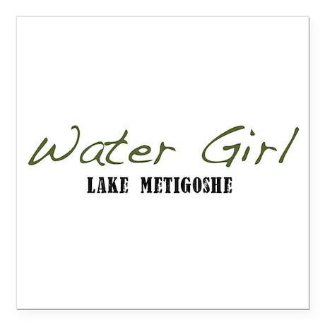 """water girl--metigoshe.png Square Car Magnet 3"""" x 3"""