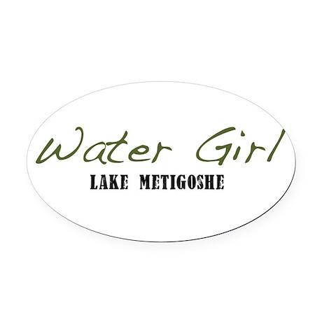 water girl--metigoshe.png Oval Car Magnet