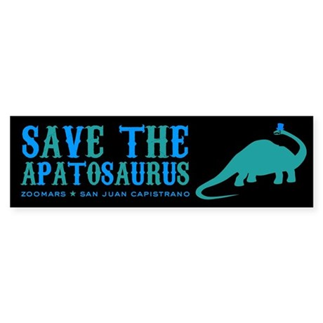 save the apatosaurus Sticker (Bumper)