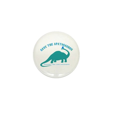 Save The Apatosaurus Mini Button (10 pack)