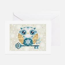 Winter Wonderland Owl Greeting Cards