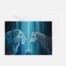 The Lion The Unicorn Greeting Card