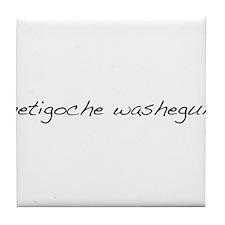 Metigoche Washegum Tile Coaster