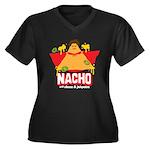 Nacho Women's Plus Size V-Neck Dark T-Shirt