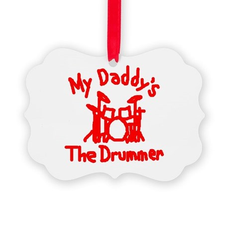 My Daddys The Drummer™ Picture Ornament
