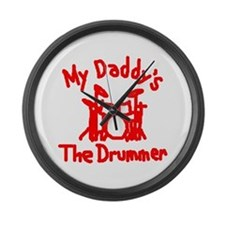 My Daddys The Drummer™ Large Wall Clock