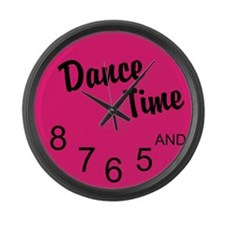 Dance Time Large Wall Clock
