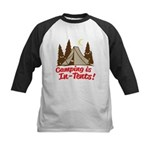 Camping Is In-Tents Kids Baseball Jersey