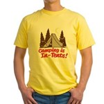 Camping Is In-Tents Yellow T-Shirt