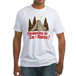 Camping Is In-Tents Fitted T-Shirt