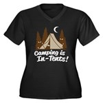 Camping Is In-Tents Women's Plus Size V-Neck Dark